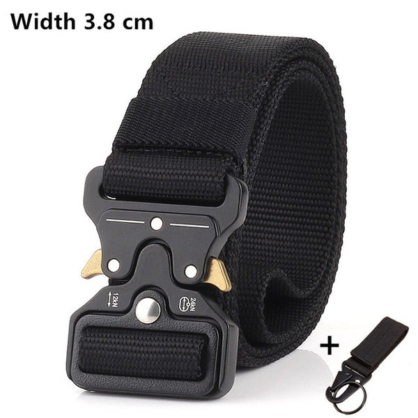 125-140long big size Belt Male Tactical military Canvas Belt Outdoor Tactical Belt