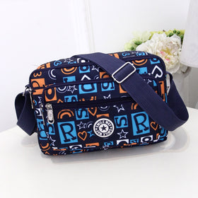 Women Fashion Solid Color Zipper Waterproof Nylon Shoulder Female Crossbody Bag