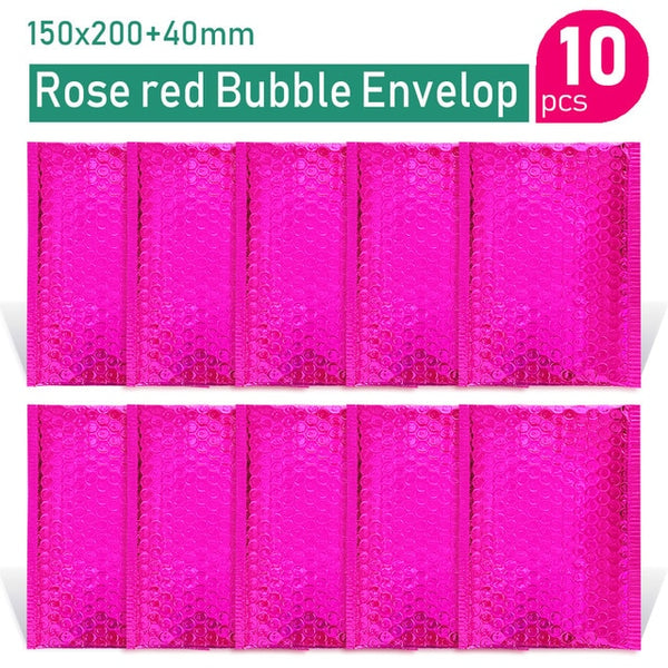 Gold/Rose Gold/Laser Silver/Dark Red/Purple/Rose Red Aluminum Foil Bubble Mailer