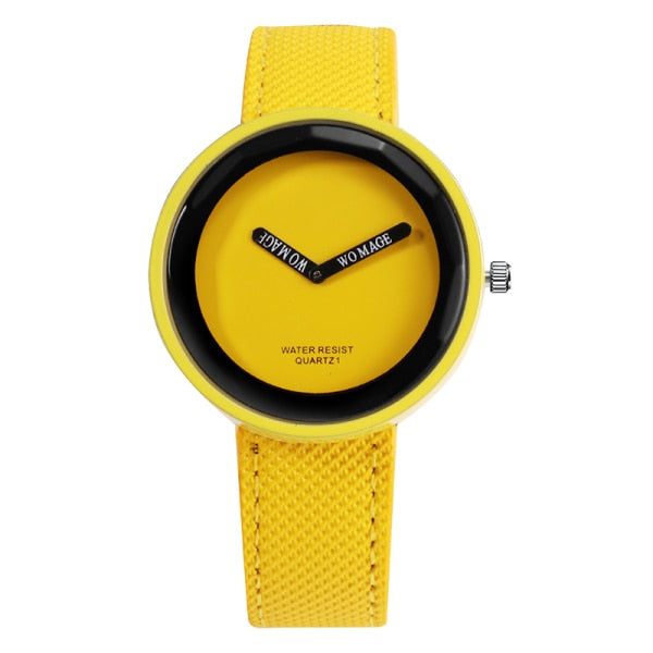 Fashion Women's Leather Watch Yellow/ Red/ Blue/ Green/ Black/Gray/White/Purple/orange/Pink