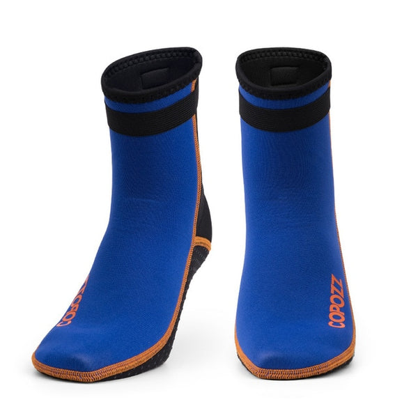Copozz 3mm Neoprene Diving Socks Boots Water Shoes Anti Slip Beach Warm Wetsuit Shoes Snorkel Surfing Swim