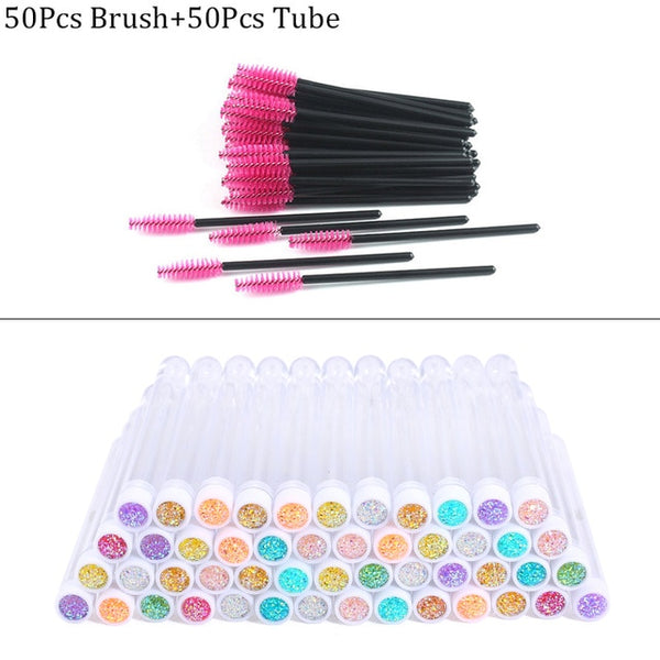 Reusable eyebrow brush tube disposable eyelash brush eyebrow brush replaceable