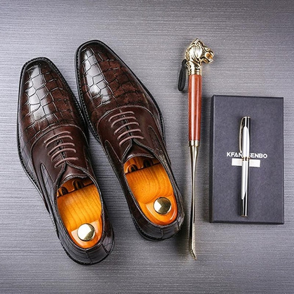 Men Dress Shoes Shadow Patent Leather Luxury Fashion Groom Shoes