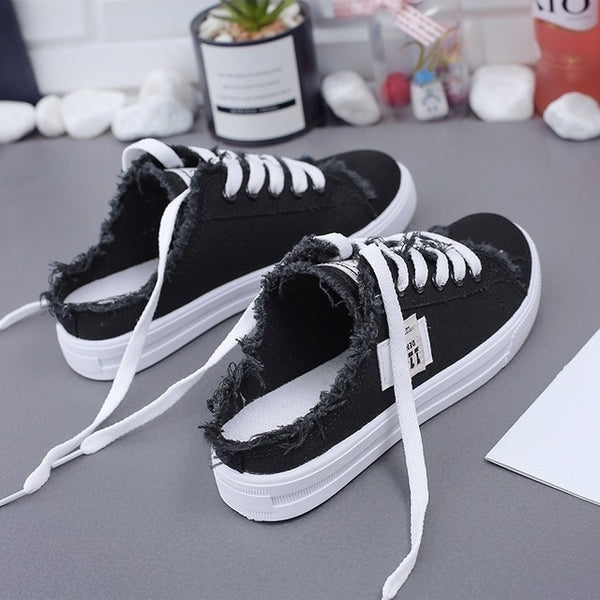 Spring Summer Women Canvas Flat Sneakers Women  Shoes