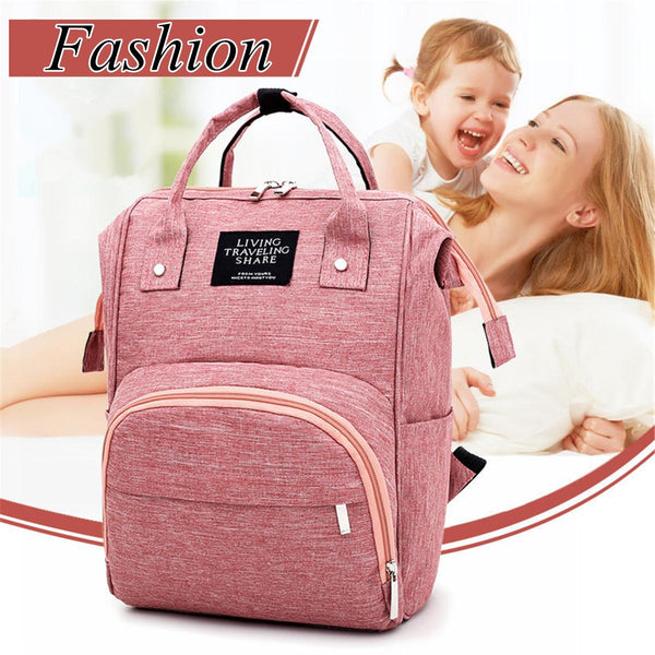 Large Capacity Baby Nappy Changing Diaper Mummy Bag Maternity Backpack Bags Waterproof