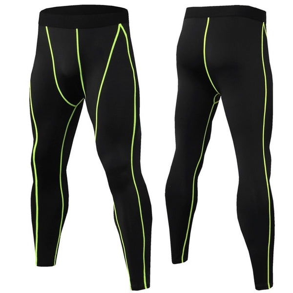 Men's Running Tights High Elastic Compression Sports Leggings Quick Dry