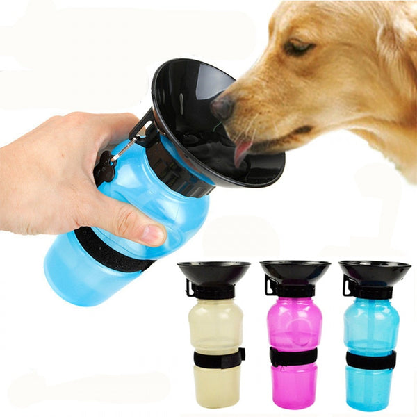 Pet Dog Water Bottle Portable Drinking Water Feeder For Outdoor