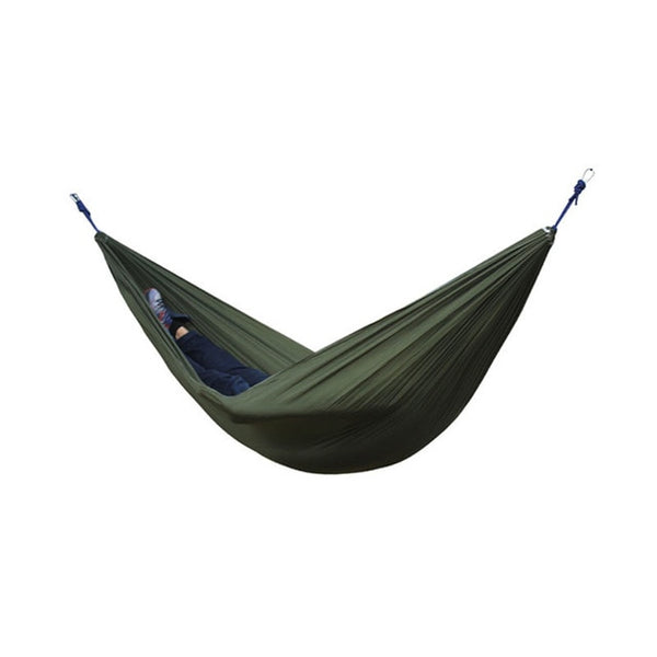 Single Double Hammock With 2 Straps 2 Carabiner Adult Outdoor Backpacking