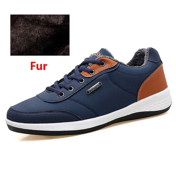 OZERSK Men Sneakers Fashion Casual Leather Breathable Shoes