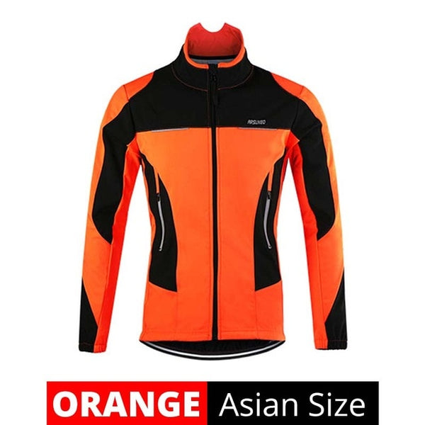 Fleece Thermal Cycling Jacket Autumn Winter Warm Up Bicycle Jerseys