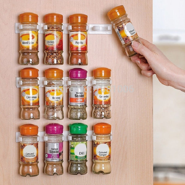 Spice Rack Wall Mount Kitchen Organizer Seasoning Bottle Holder Hanging Spice Jars