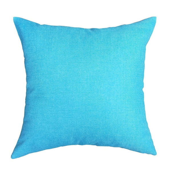 40x40cm Plain linen Pillowcase Nordic Sofa Pillowcase Waist Pillow Cover Cases