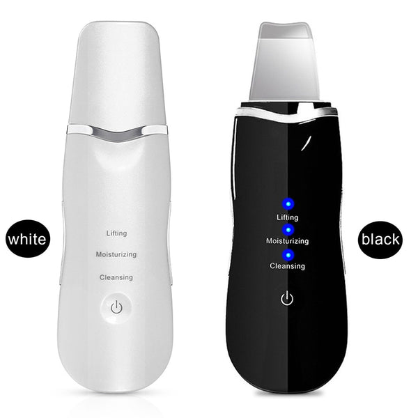 Ultrasonic Skin Scrubber Deep Cleaning Face Scrubber Vibrating Facial Cleansing Skin
