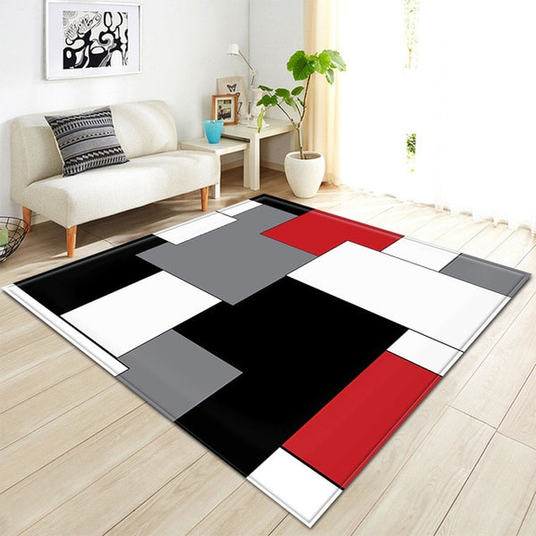 Nordic Living Room Carpet 3D Pattern Children Rug Kids Room Decoration Large carpet
