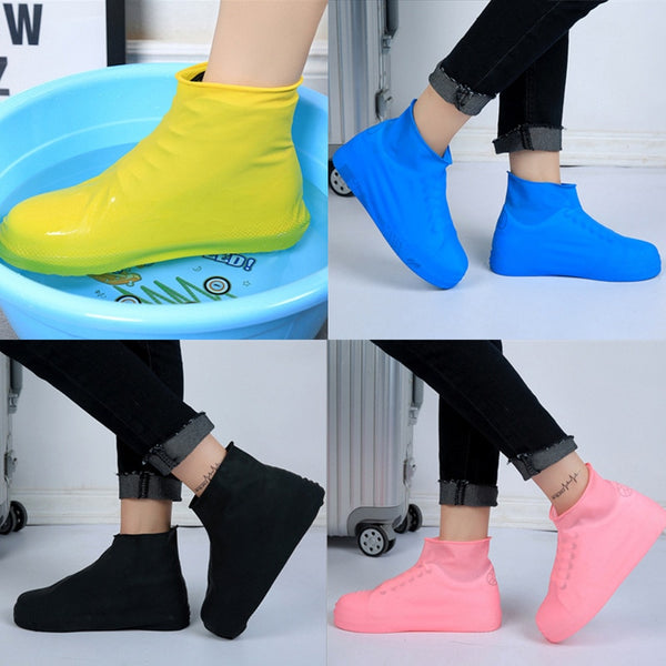 Fashion Rain Boots Waterproof Silicone Unisex Shoes Protective Cover