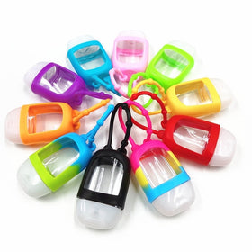 10Pcs Portable Traveling Refillable Bottle Silicone Hand Sanitizer
