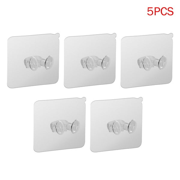 5pcs Strong Adhesive Hook Power Plug Socket Hanger Holder Wall Mounted
