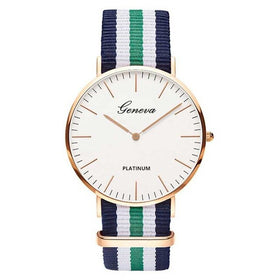 Fashion Casual Women Canvas Belt Watches
