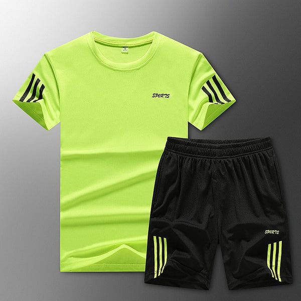 Loose Men's Sport Suits Quick Dry Running sets Clothes New Sports Joggers Training Gym Fitness