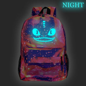 Glow in the Dark Luminous Men Women Boys Girls School Backpack How to Train Your Dragon
