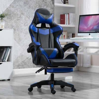 WCG Gaming Chair with Footrest Lift Up Game Chair High Quality Ergonomic Computer Chair