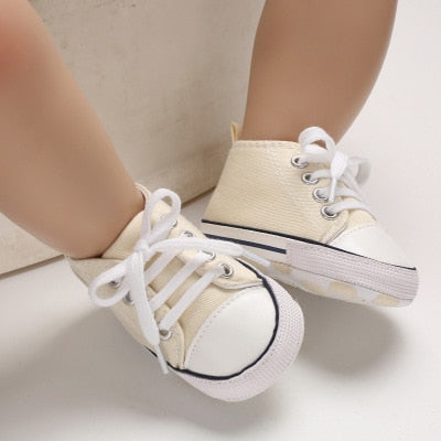 Canvas Baby Sports Sneaker Newborn Baby Girls Shoes boys First Walkers Shoes Infant Toddler Soft Sole Anti-slip