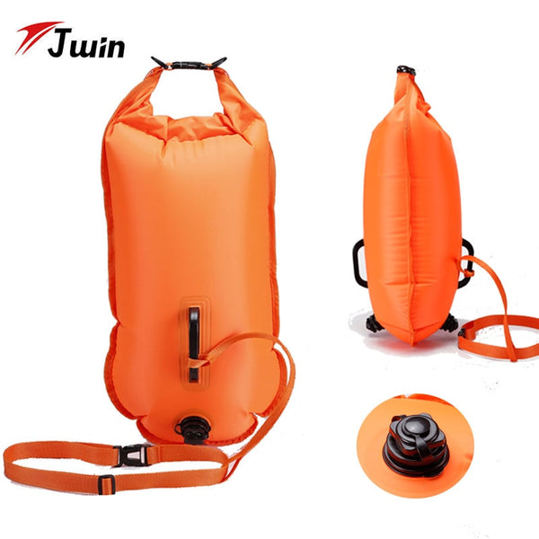 28L Swimming Bag Inflatable Swimming Buoy Life Bag Tow Floating Dry Bag Swimming Diving Safety Signal Air Bag