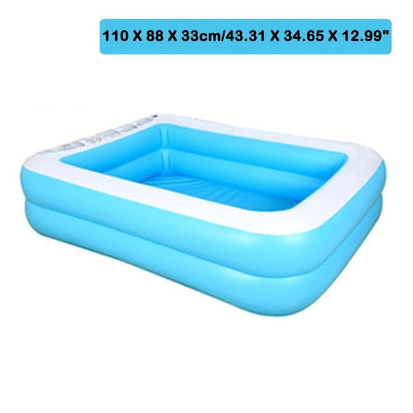 Summer Inflatable Swimming Pool Thicken PVC Rectangle Bathing Adults Kids Tub Comfortable Children Portable Elements