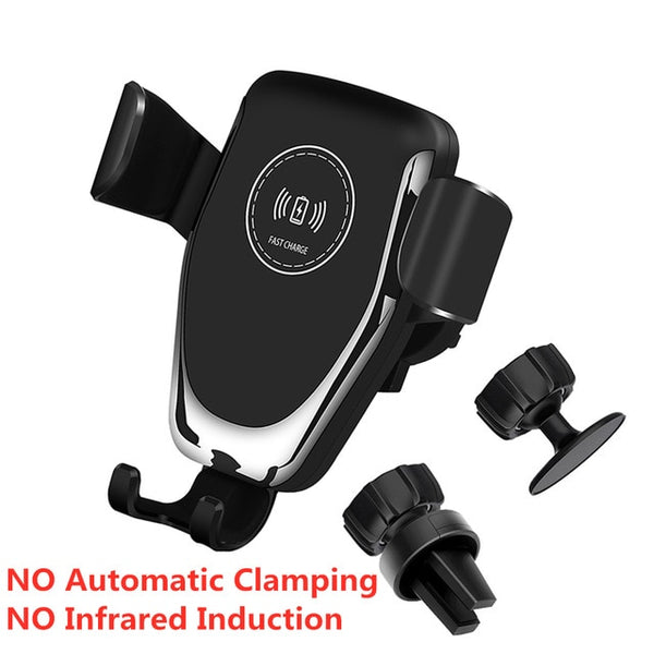 Automatic Clamping 15W Fast Car Wireless Charger S20 S10 iPhone 11 Pro XS XR X 8 Infrared Sensor Phone Holder Mount