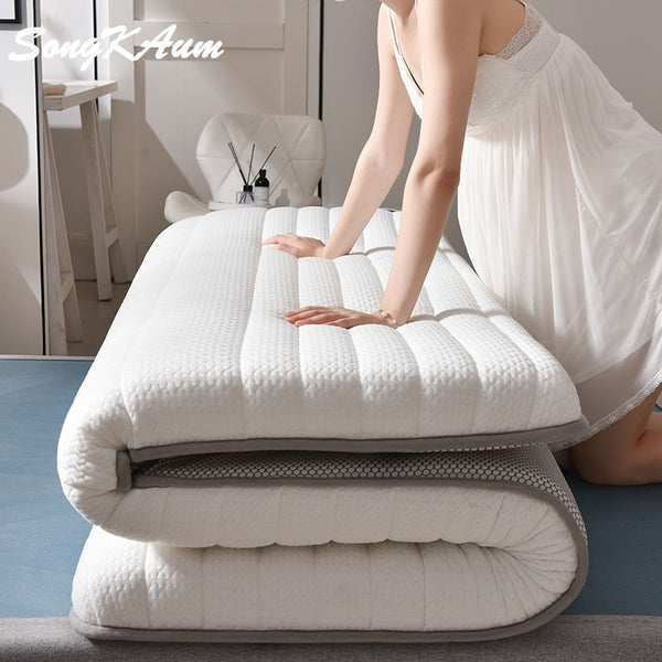 Latex Mattress Folding Mattress For Queen/King /Twin/Full Size Bed Breathe Foam Mattress