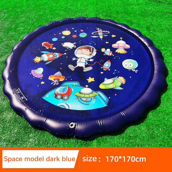 170cm Kids Inflatable Water spray pad Round Water Splash Play Pool Playing Sprinkler Mat Yard Outdoor Fun