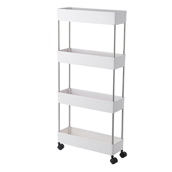 Mobile Shelving Tier Storage Cart Slide Out Storage Organizer Rolling Utility Cart