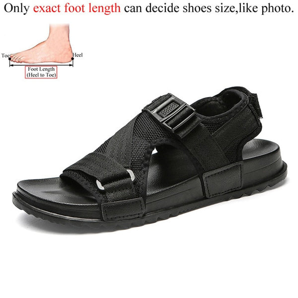 Mens Sandles Outdoor Breathable Comfort Slip on Plus Size Open Shoes