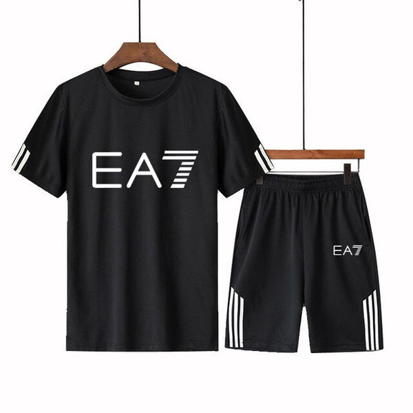 Tracksuit Male Men Clothing Sportswear Set + T shirt Men's Suit 2 Pieces Sets Plus Size 4XL