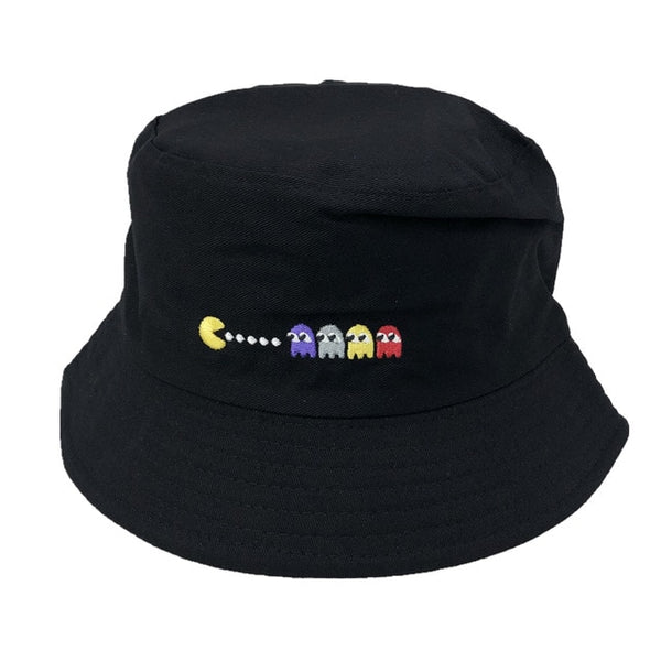Unisex Embroidered Alien Foldable Bucket Hat Beach Sun Hat Street Headwear Outdoor Cap Men and Woman Hat