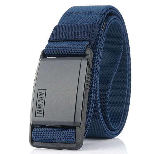 Fashion Nylon Belt Metal Magnetic Buckle Adjustable Belts For Men