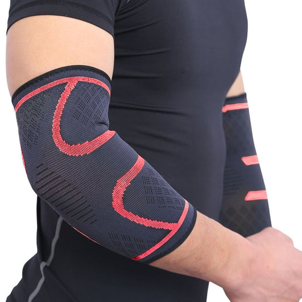 1PCS Elbow Support Elastic Gym Sport Elbow Protective Pad