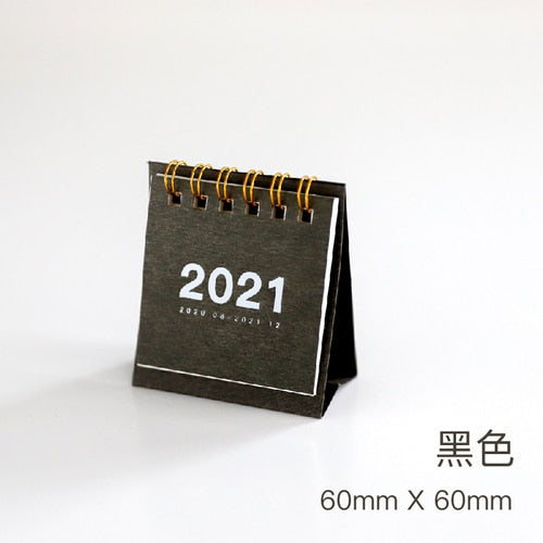 2021 Simple Desktop Paper Calendar dual Daily Scheduler Table Planner