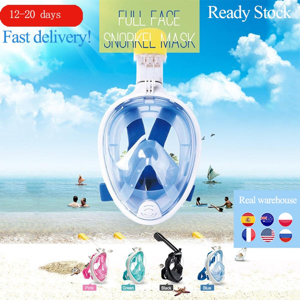 6 Colors Scuba Diving Mask Full Face Snorkeling Mask Underwater Anti Fog Snorkeling Diving Mask