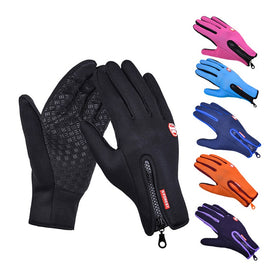 Mens Winter Warm Gloves Touch Screen Fishing Waterproof Lady Ski Autumn Breathable Non-Slip