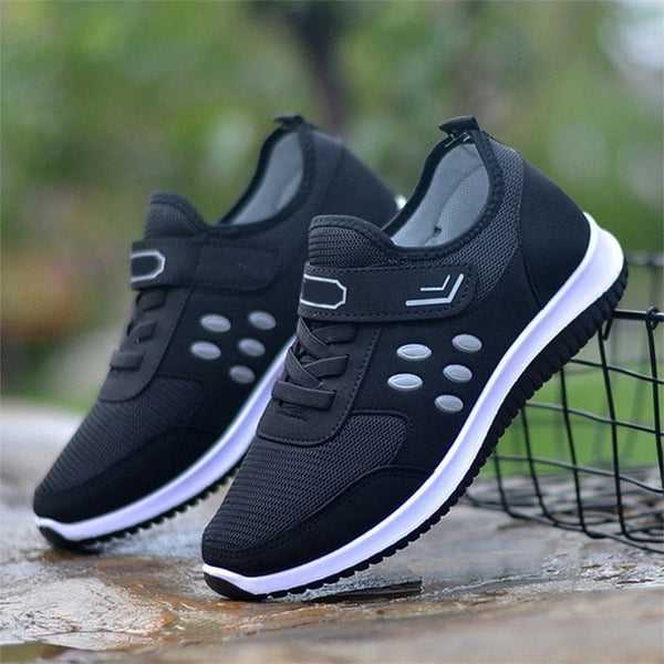 Women Mesh Buckle Vulcanize Shoes Woman Sneakers