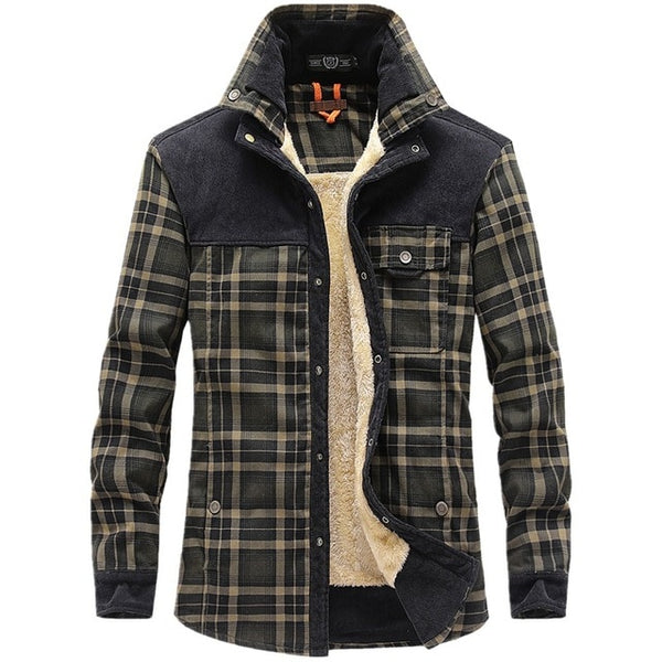 Winter Jacket Men Thicken Warm Fleece Jackets Coats Pure Cotton