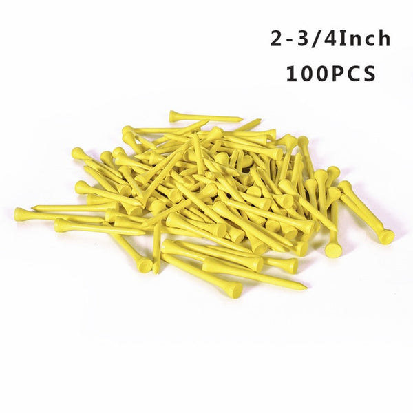 50/100Pcs Golf Tees Bamboo 83mm 70mm Unbreakable Tee Golf Training Swing Practice