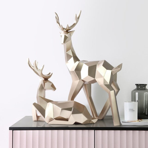 Deers Sculpture Resin Deer Statue Nordic Decoration Home