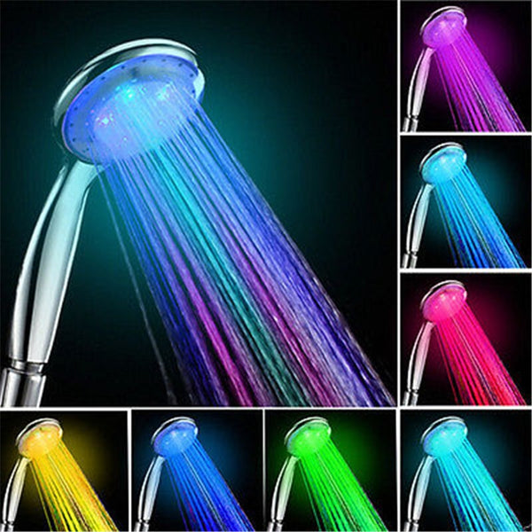 LED Temperature Control Colorful Handheld Big Rain Shower Head