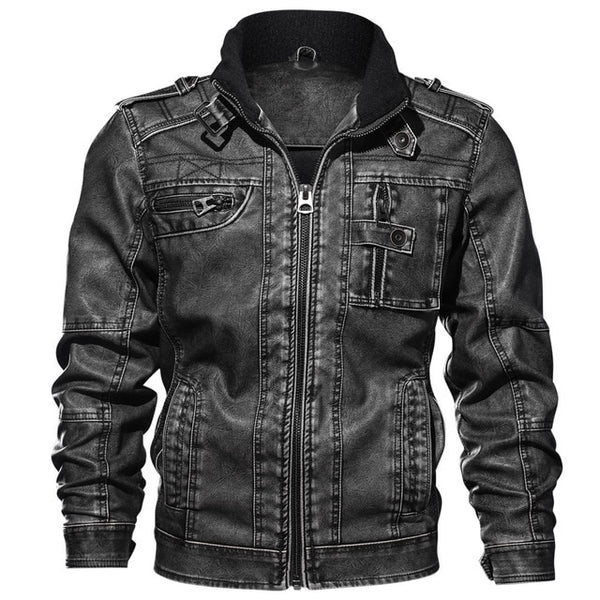 Mens Leather Jackets High Quality Classic Motorcycle Jacket