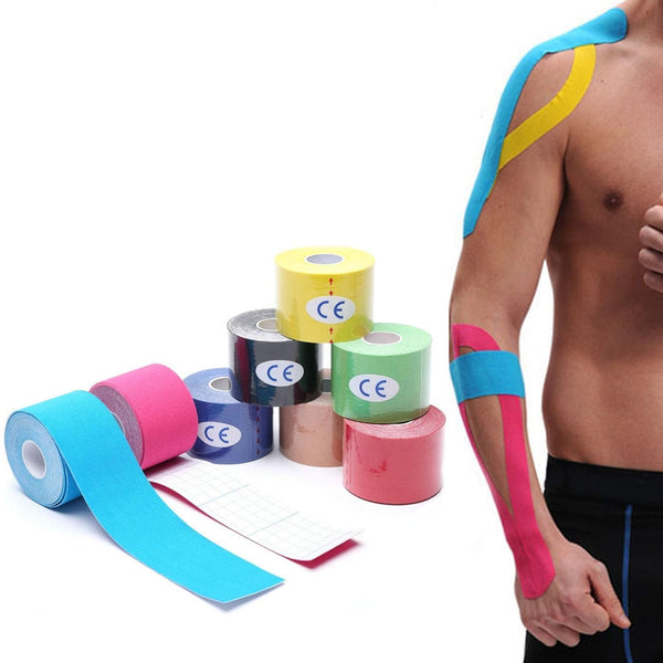 One Piece Kinesiology Tape Muscle Bandage Sports Cotton Elastic Adhesive Strain Injury Tape Knee Muscle Pain Relief