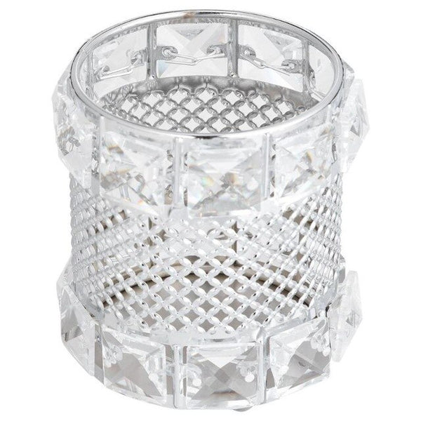 European Metal Crystal Pencil Pen Holer Glitter Brush Storage Tube Desk Organizer