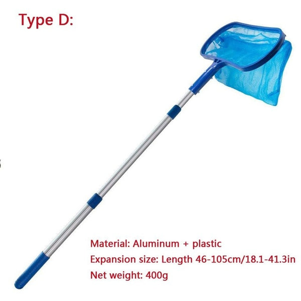 Professional Leaf Rake Deep Bag Swimming Pool Skimmer Pool Spa Rubbish Skimmer Pool Net Pool Cleaning Net