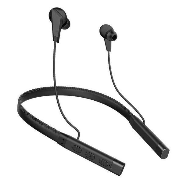 Leather Wire Neck-mounted Wireless Bluetooth Earphones